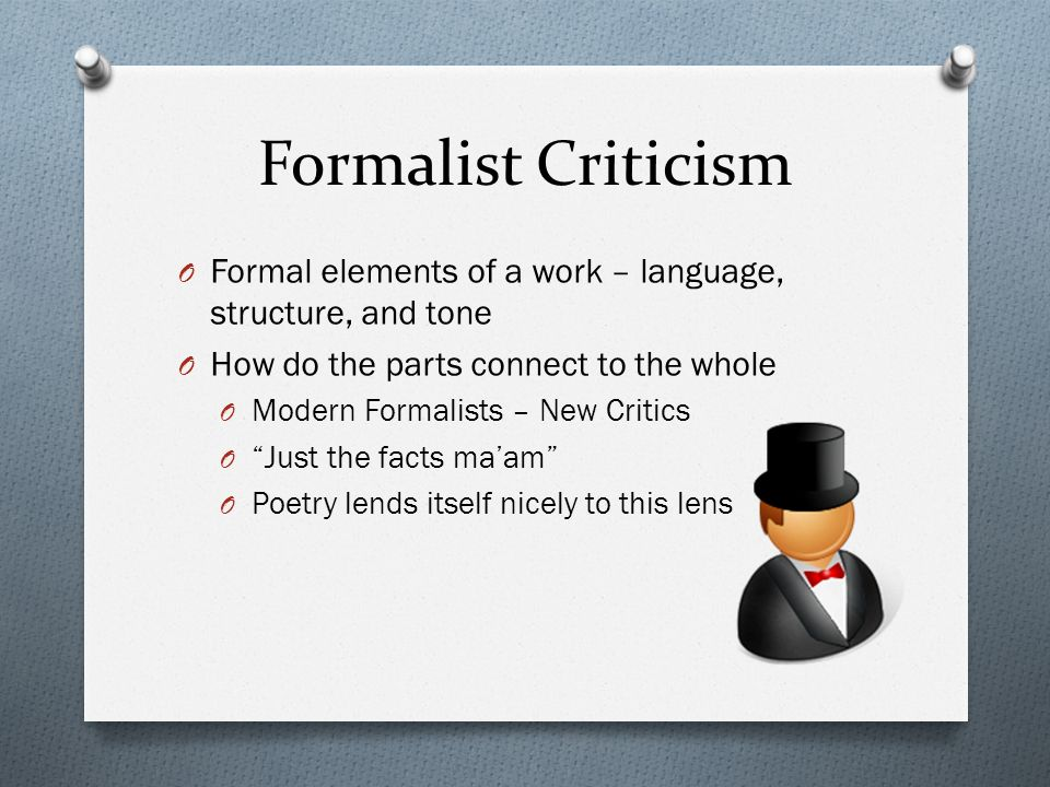 formalist essay