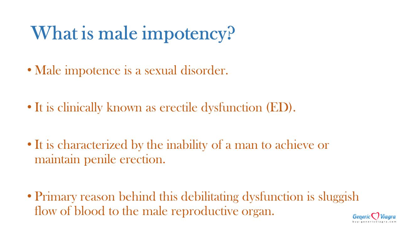 What is impotence? 25
