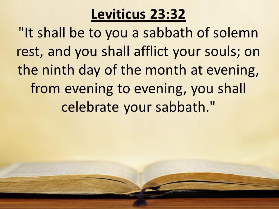 Kuvahaun tulos haulle Leviticus 23:32