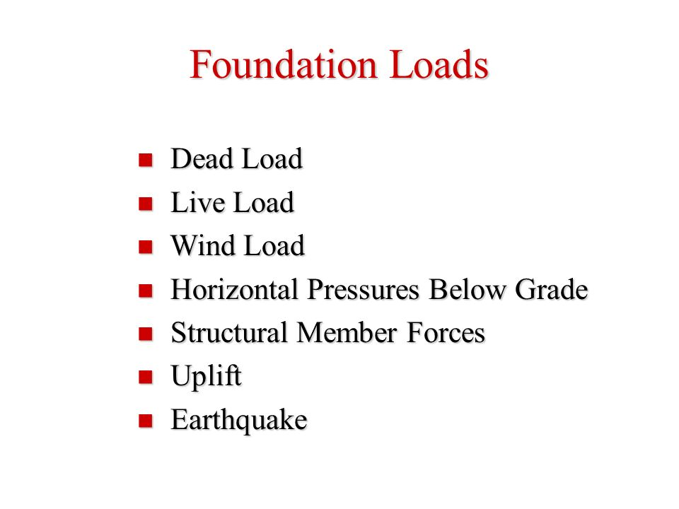 how to calculate dead load and live load