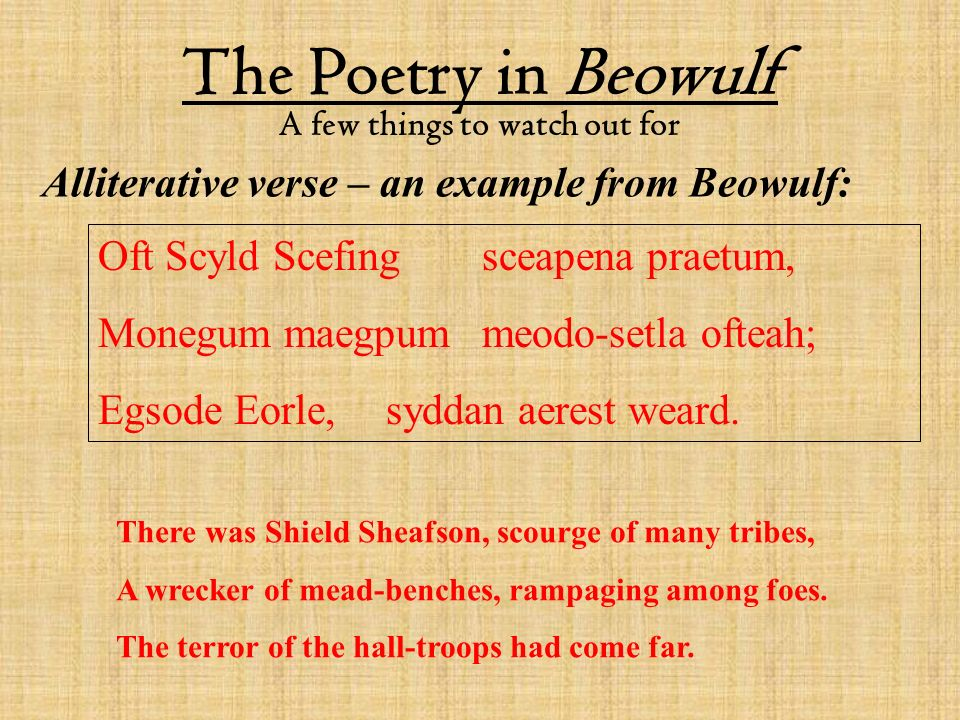 beowulf metaphors It looks like you've lost connection to our server please check your internet connection or reload this page.