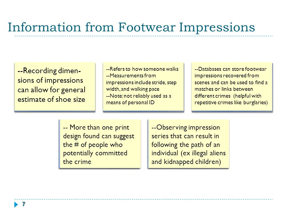 Forensic Footwear Evidence Ppt Download
