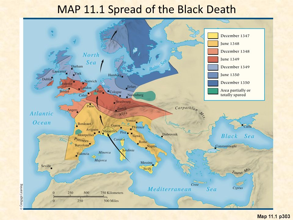 Chapter 11 the late middle ages crisis and disintegration in the 15 map 111 spread of the black death gumiabroncs Gallery