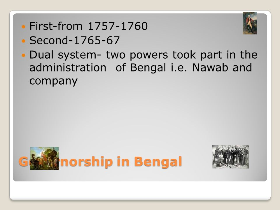 dual system of government in bengal