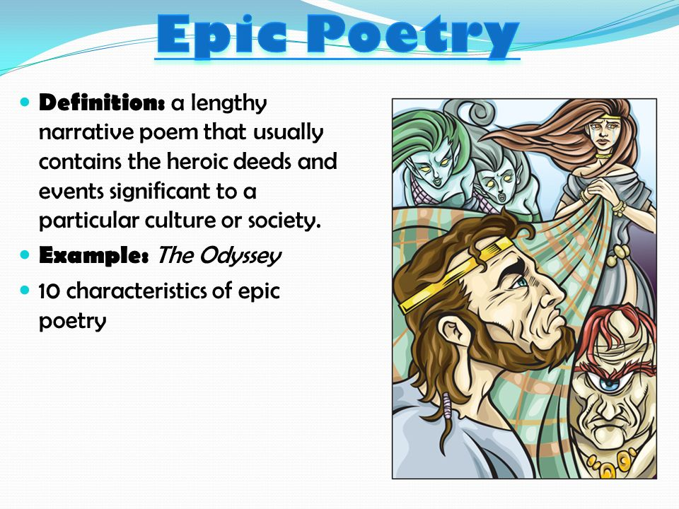 Epic Poem Definition Literature Poemview