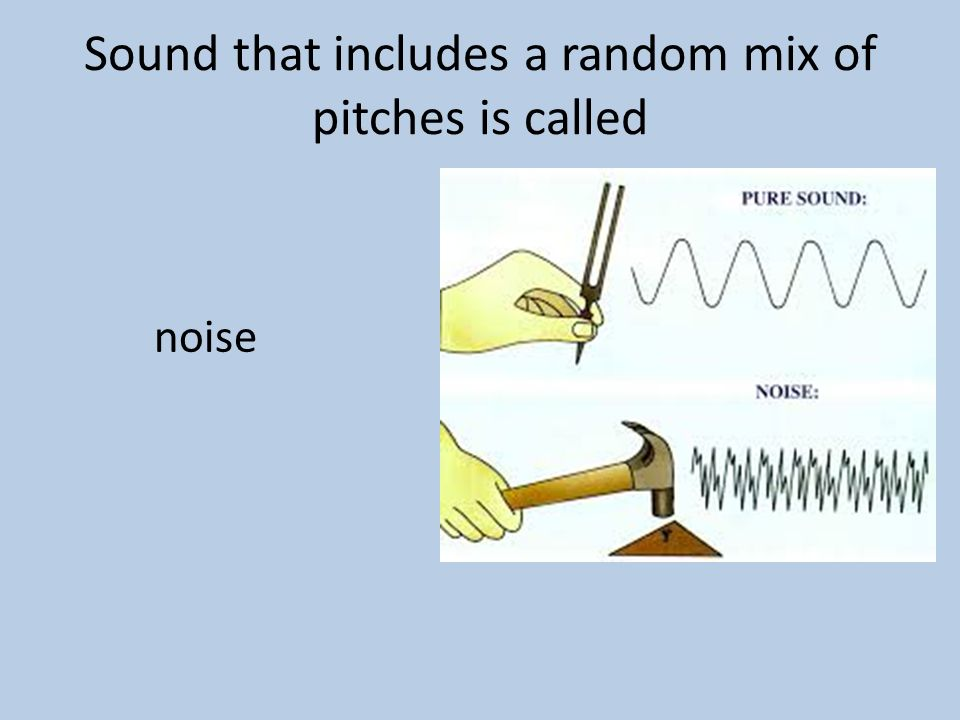 Sound that includes a random mix of pitches is called