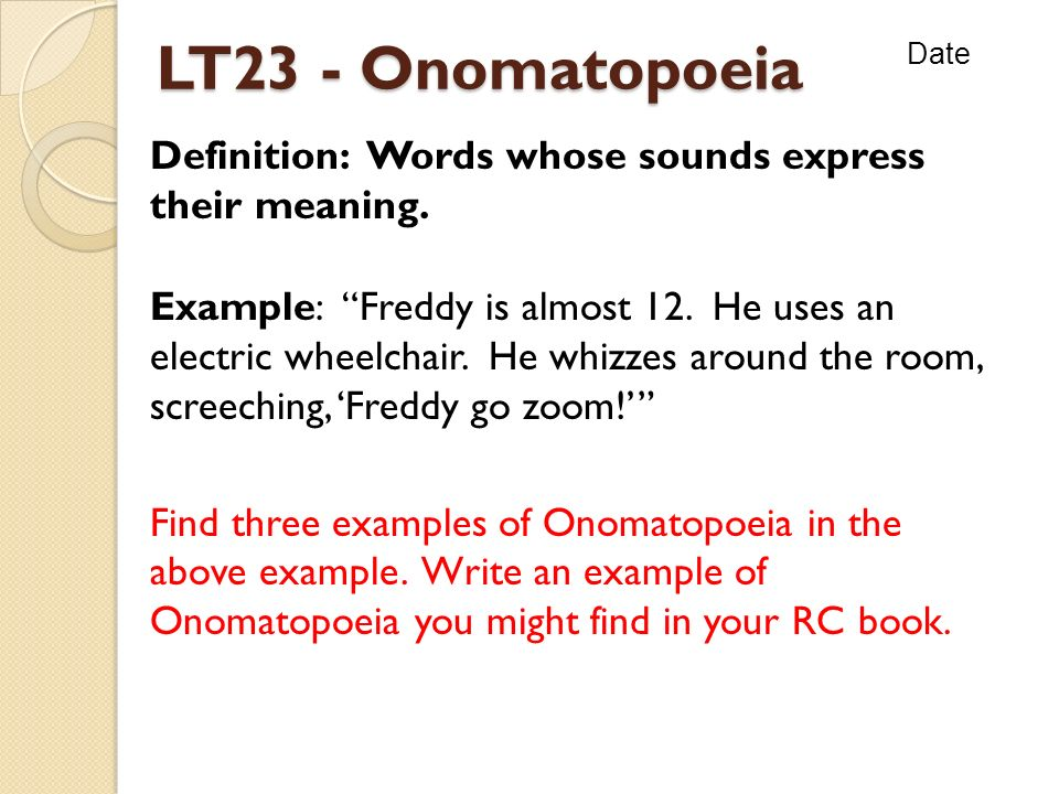 Meaning Of Onomatopoeia And Examples Images Resume Cover Letter