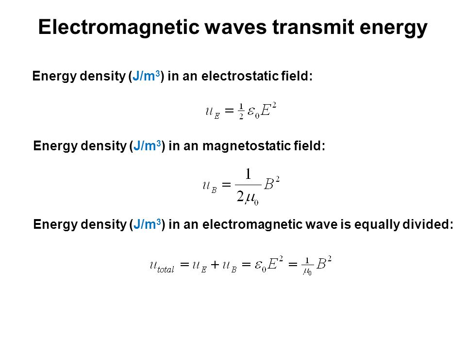 Electromagnetic waves transmit energy
