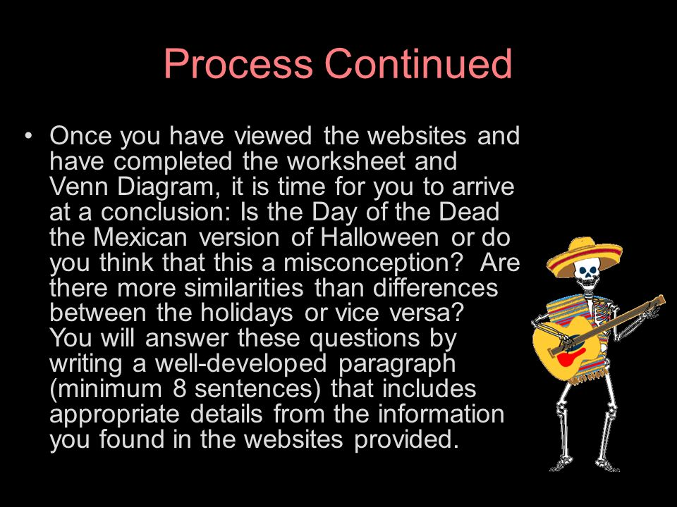 El da de los muertos a webquest ppt video online download 6 process continued ccuart