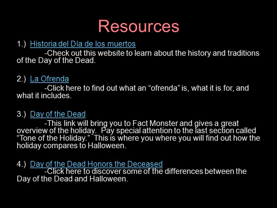 El da de los muertos a webquest ppt video online download historia del da de los muertos ccuart Image collections