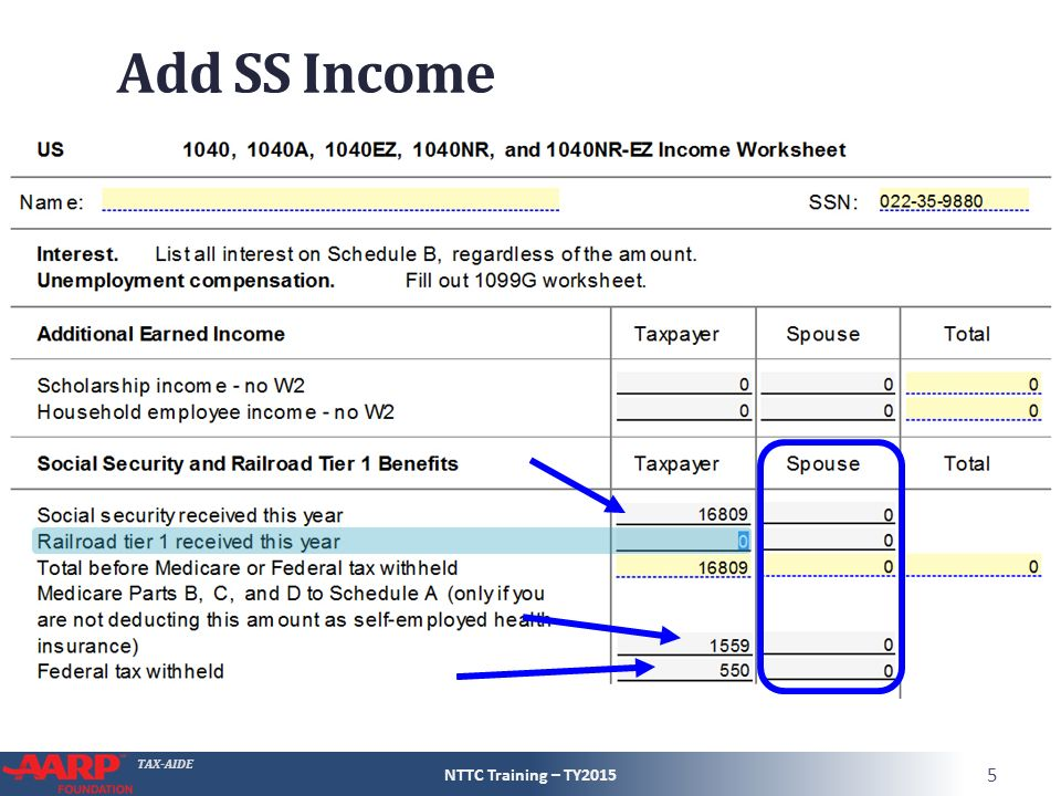 Social Security And Railroad Retirement Equivalent Ppt Video. Add Ss Ine Nttc Training Slides. Worksheet. 1040 Social Security Benefits Worksheet At Clickcart.co