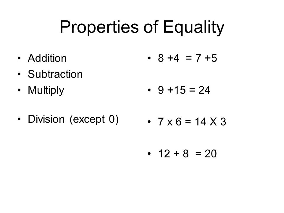 Algebra Properties Of Equality Ppt Download