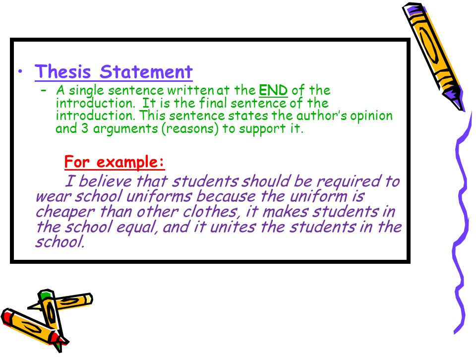 The Persuasive Essay  Ppt Video Online Download  Thesis Statement
