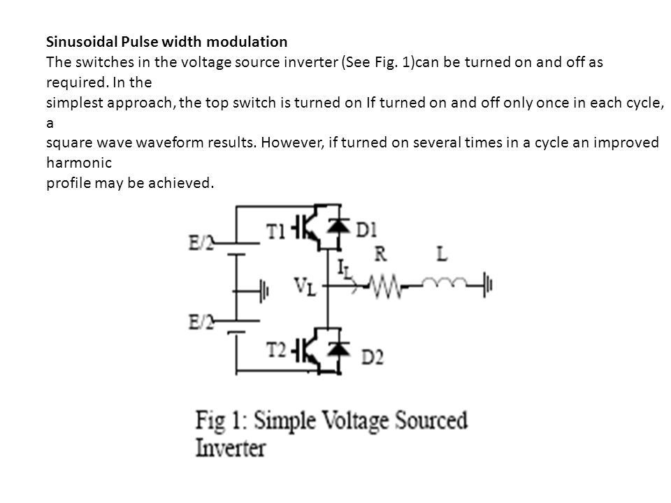 PWM TECHNIQUES The output voltage of the inverter needs to