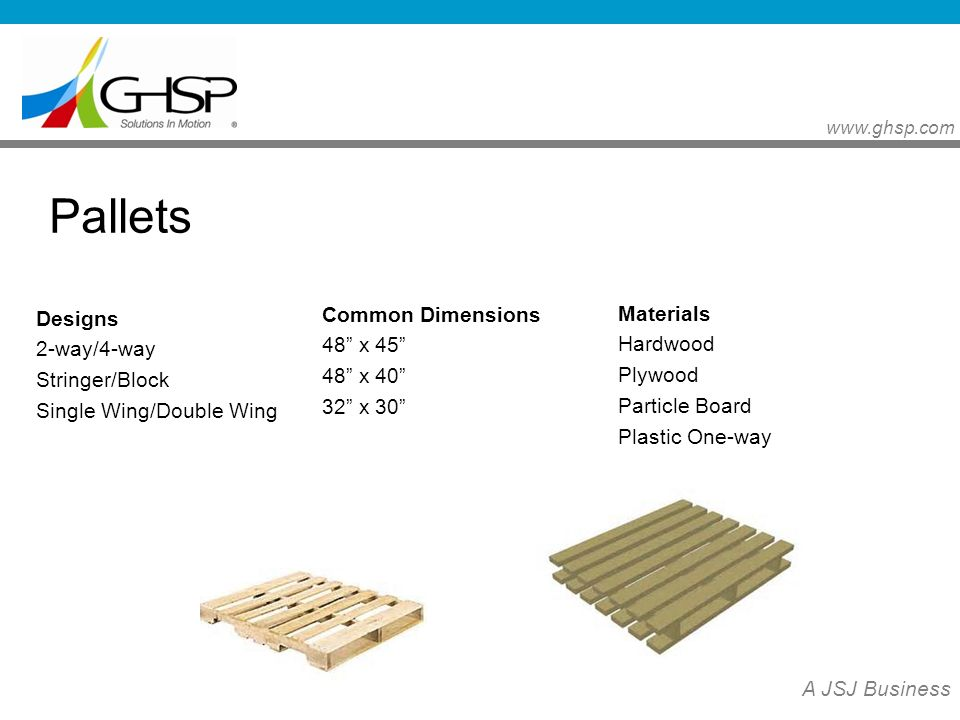 13 Pallets Common Dimensions