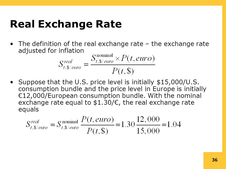 Real Exchange Rate The Definition Of Adjusted For