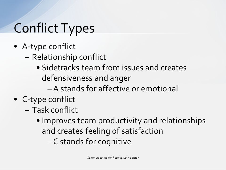 a type and c type conflict