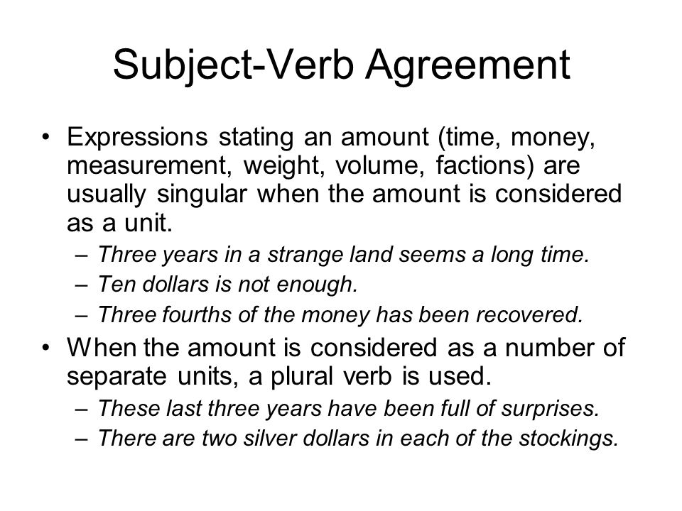 Parallel Structure Subject Verb Agreement Ppt Download