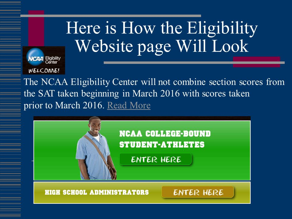 Here is How the Eligibility Website page Will Look