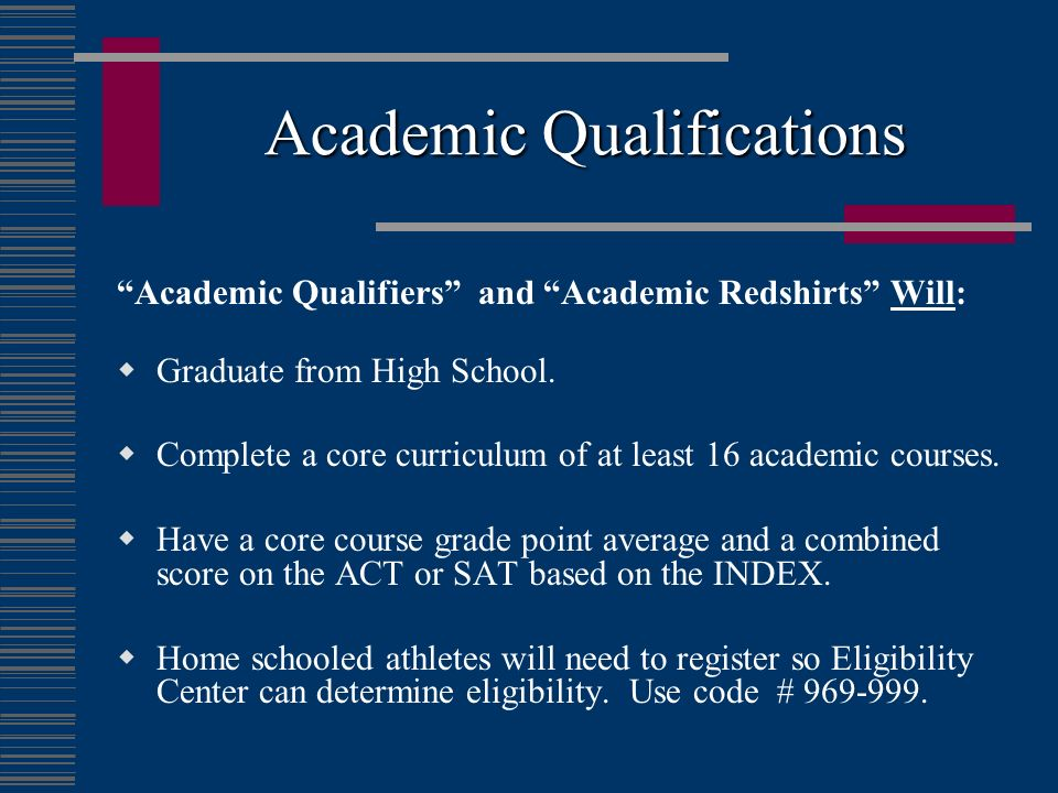 Academic Qualifications
