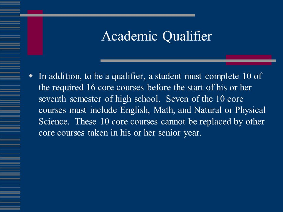 Academic Qualifier