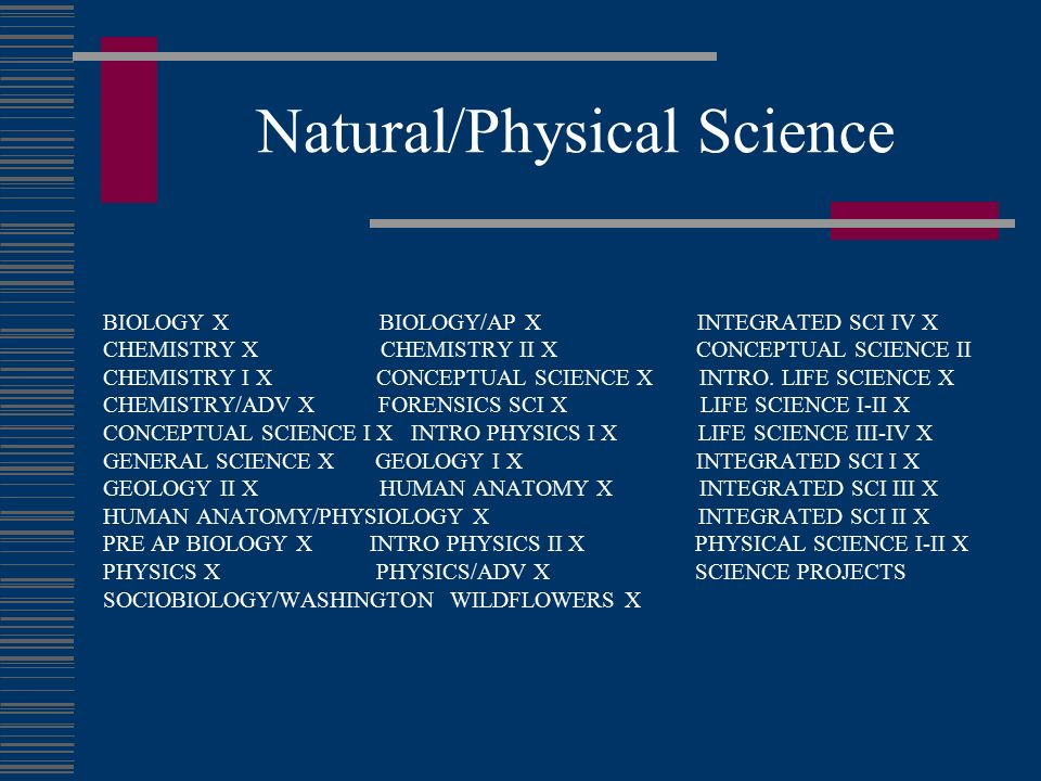Natural/Physical Science