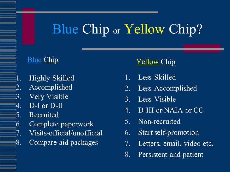 Blue Chip or Yellow Chip