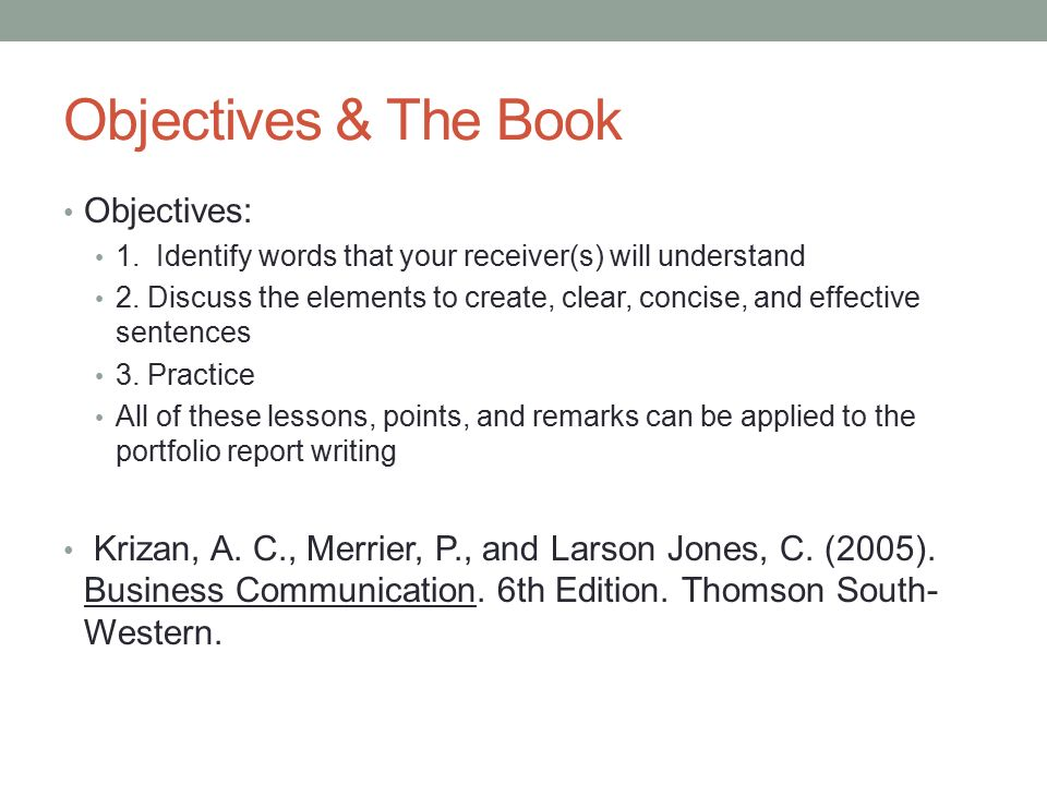 2 objectives