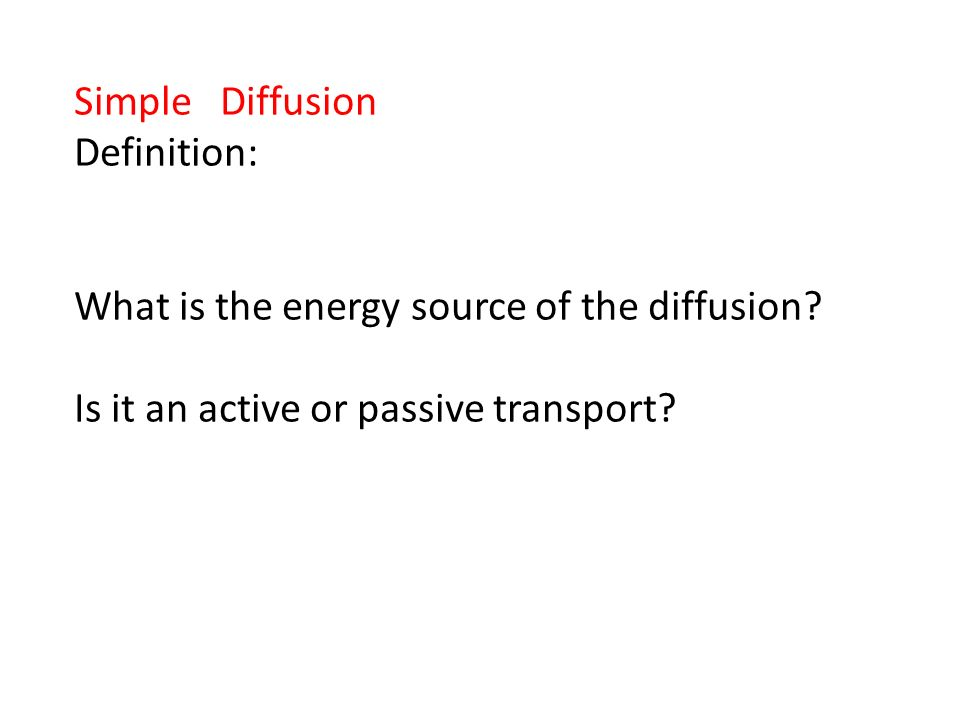simple diffusion definition