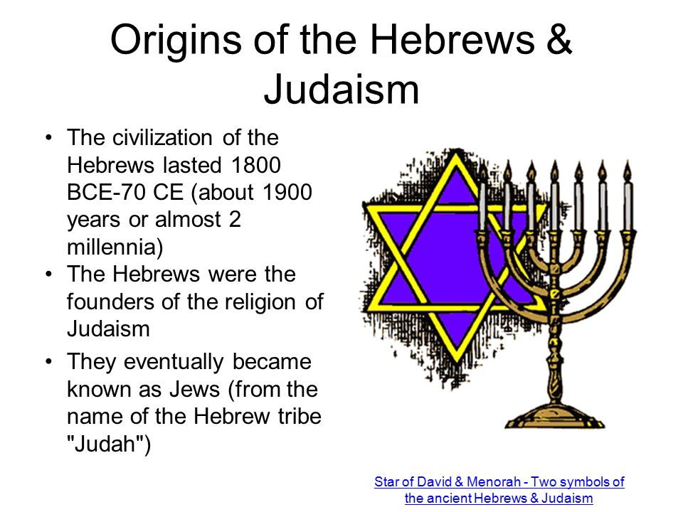 History Of The Hebrews Origins Of Judaism Ppt Video Online Download