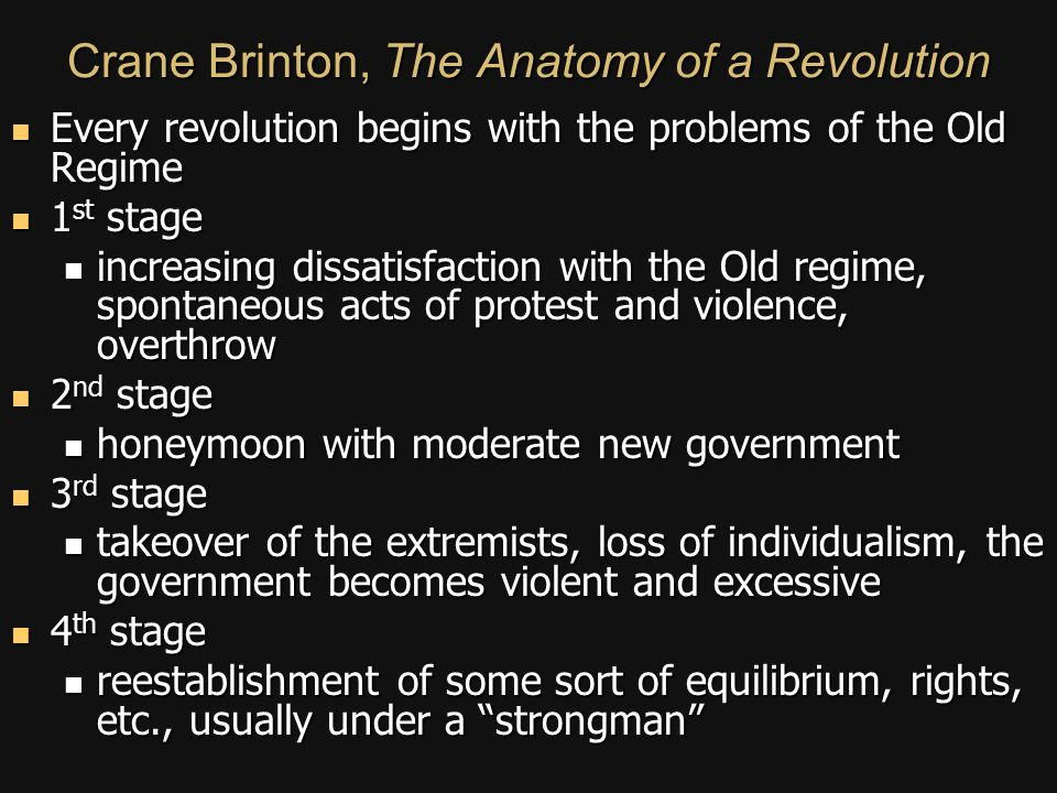 THE ANATOMY OF REVOLUTIONS - ppt video online download