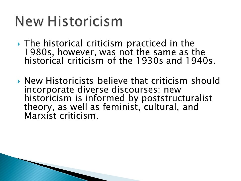 Wsq on historical criticism |authorstream.