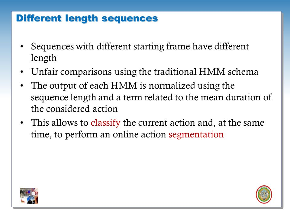 Different length sequences