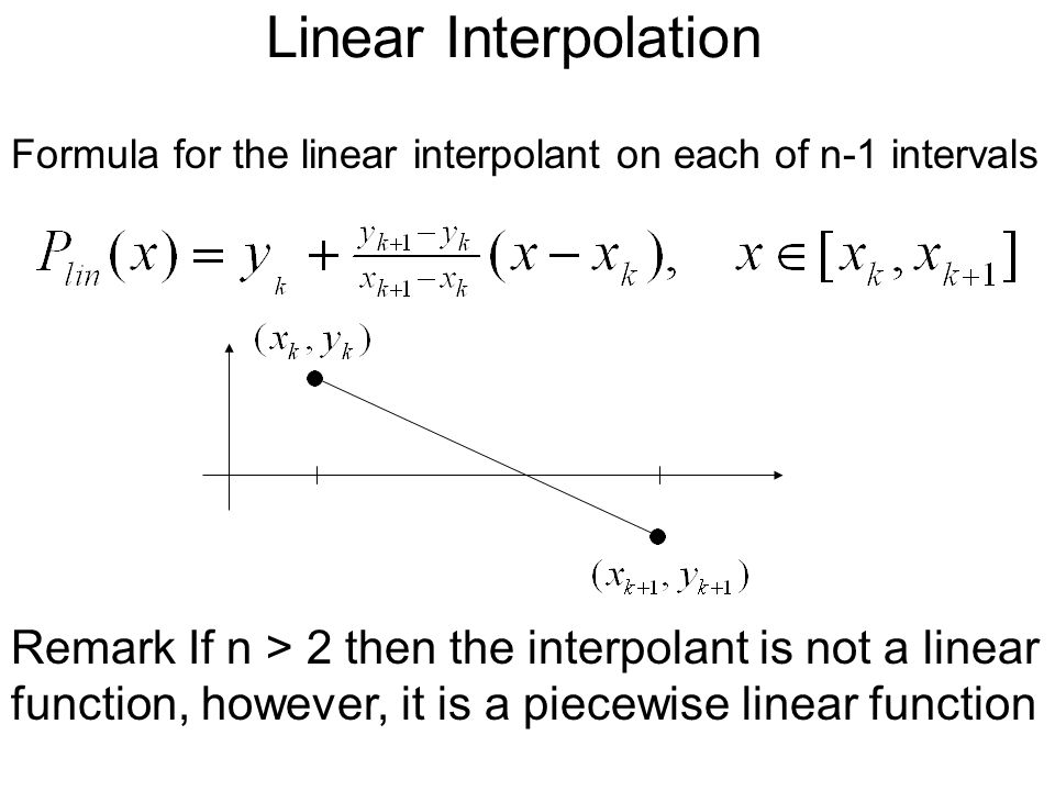 MA2213 Lecture 2 Interpolation  - ppt video online download