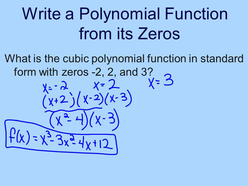 Write A Polynomial Function In Standard Form Gallery Free Form