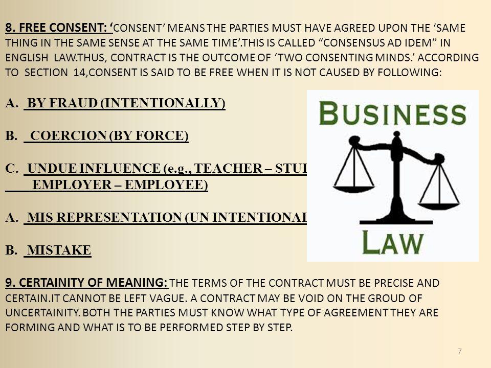 what is consensus ad idem