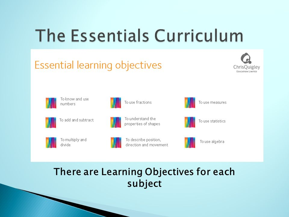 chris quigley learning objectives