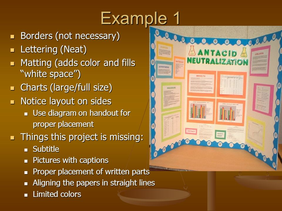 Science Fair Display Boards Ppt Video Online Download - Layout of a science fair board