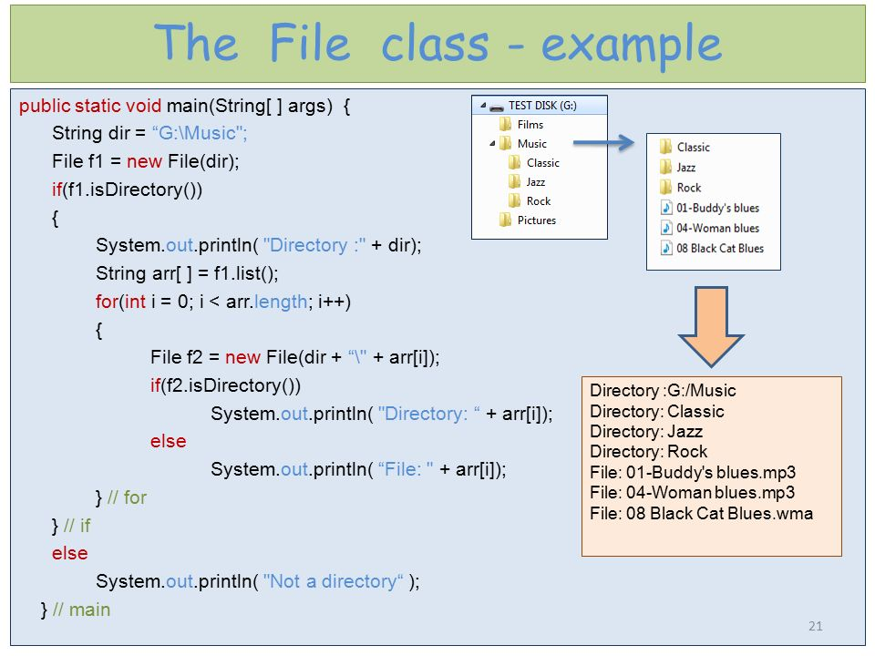 The File class - example