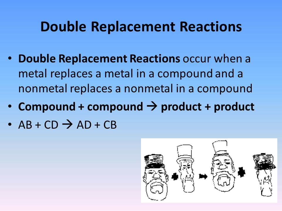 in a double replacement reaction the