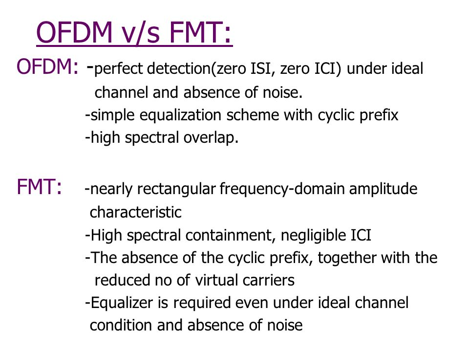 FMT Modulation for Wireless Communication - ppt download