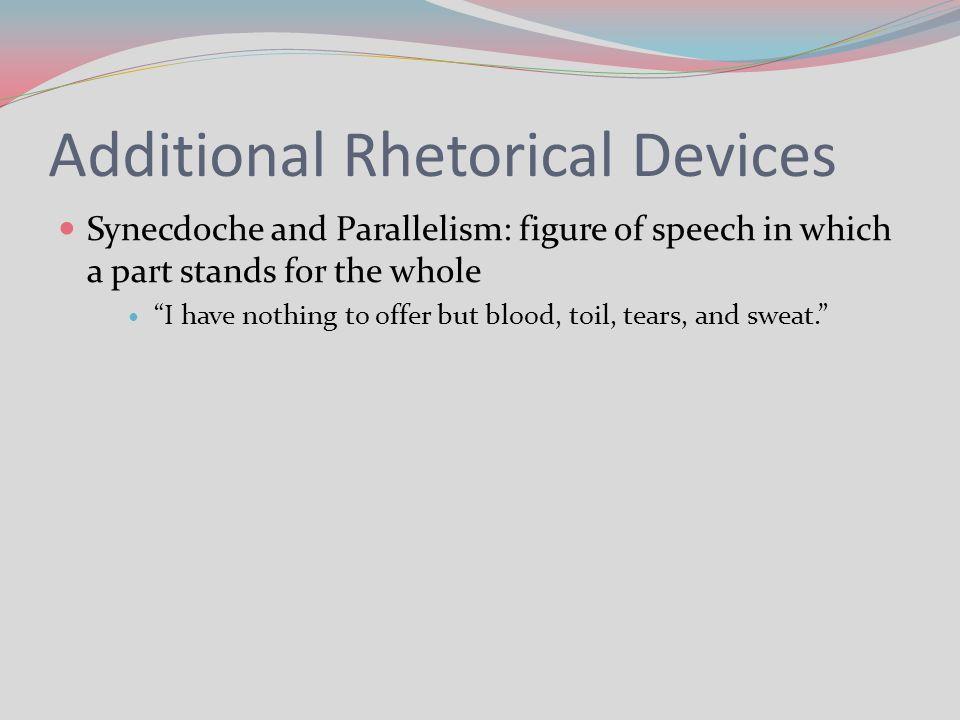 blood toil tears and sweat speech rhetorical analysis