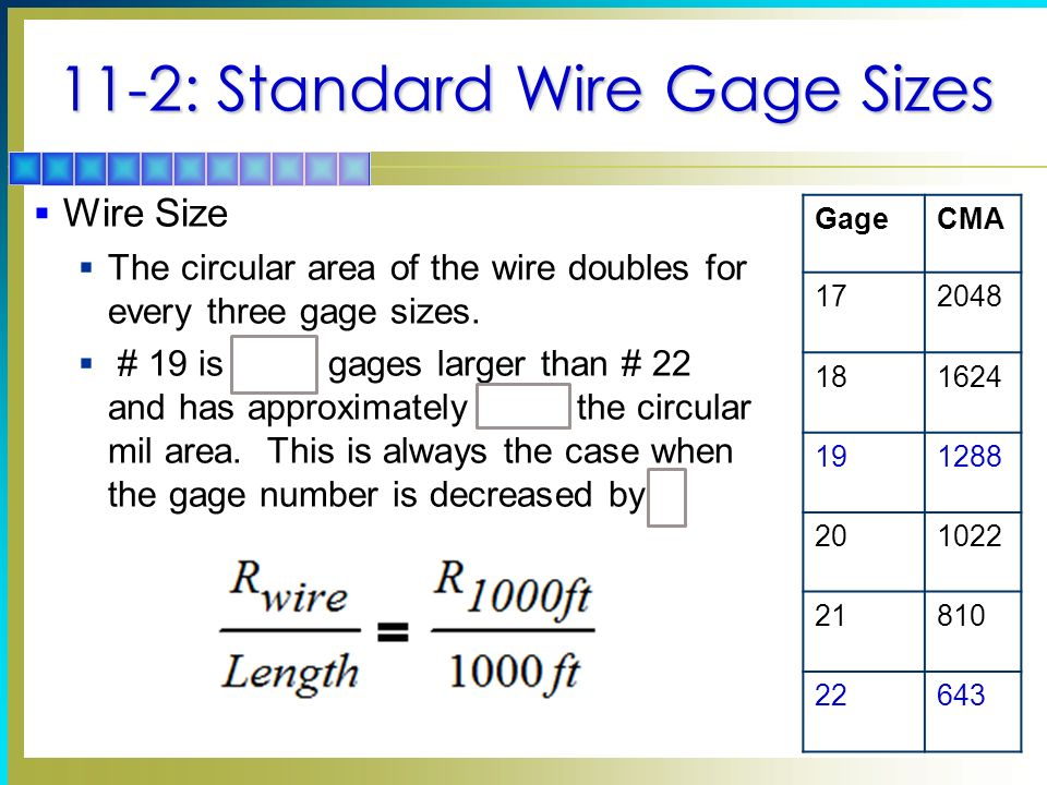 Cma wire size wire center conductors and insulators ppt video online download rh slideplayer com cma wire size calculator wire size greentooth Gallery