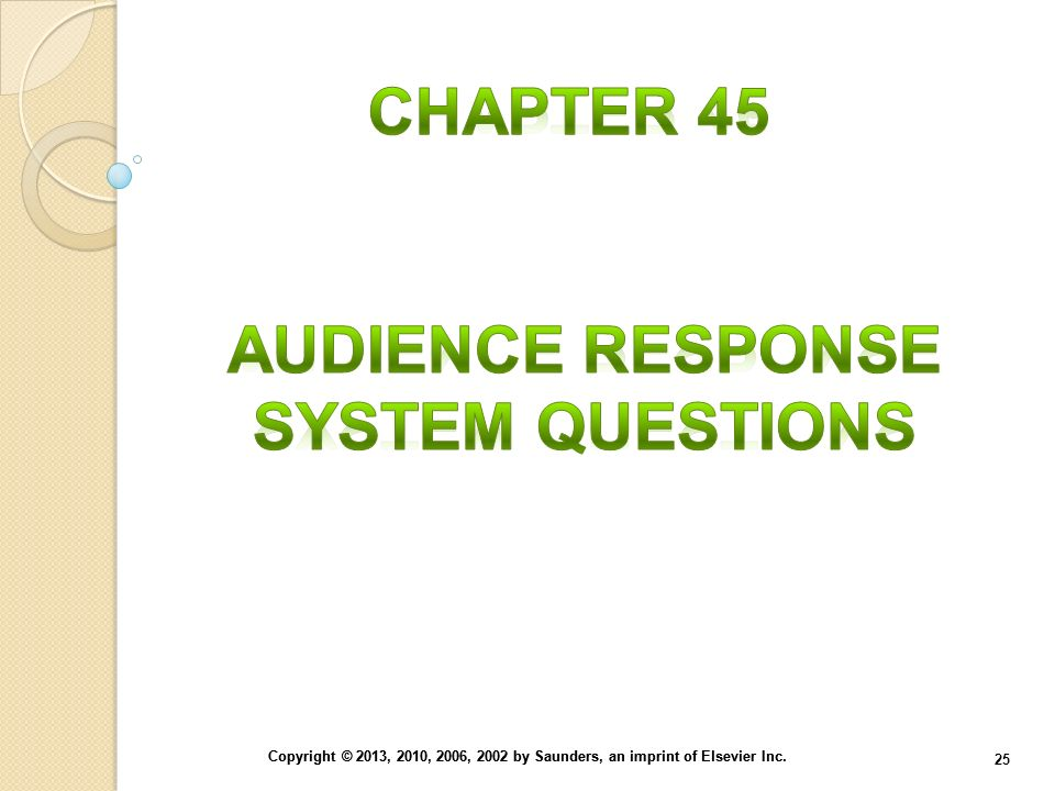 Audience Response System Questions
