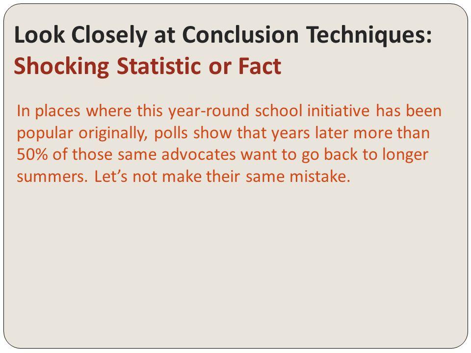 how do you make a conclusion