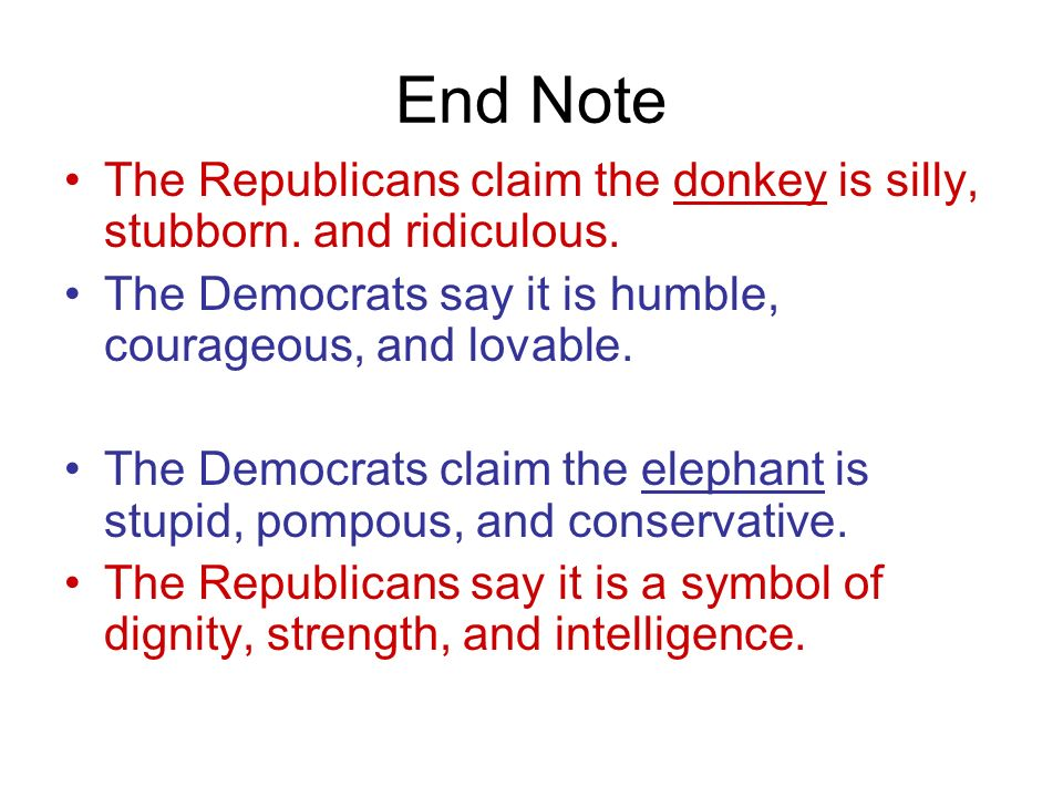 Democrats Symbol Of A Donkey Ppt Video Online Download