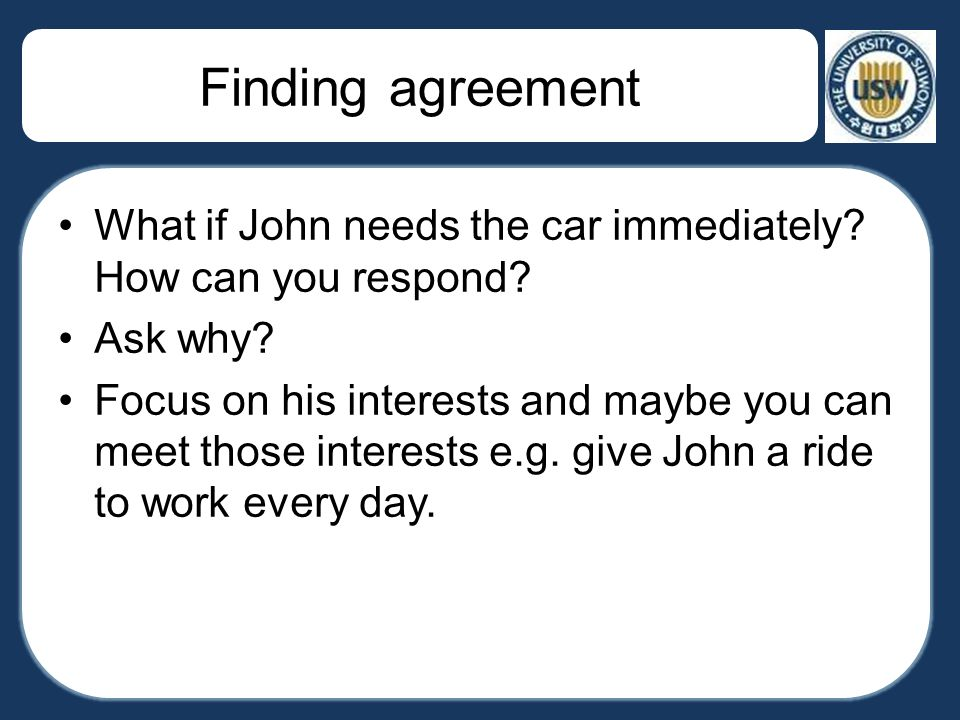 how to respond to car offer