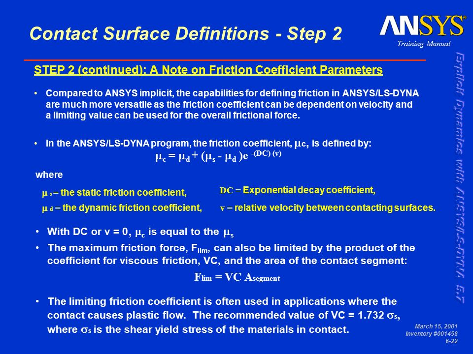 Chapter 6 Contact Surfaces  - ppt download