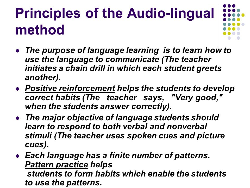 Audio Lingual Method Army Method Ppt Video Online Download