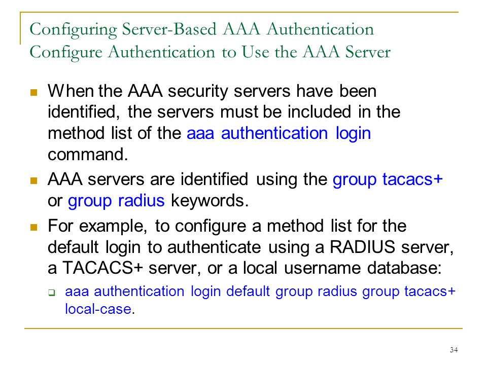 Access Control Authentication, Authorization, and Accounting